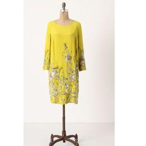 Anthropologie Rutzou Blooming Whin Shift Dress